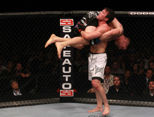Chael Sonnen beat Brian Stann by second-round submission in 2012.