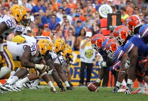 As of late Friday afternoon, most books have Florida-LSU as a pick 'em.