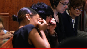 Aaron Hernandez's mother and fiancee were left in tears after his guilty verdict was announced.