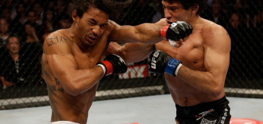 SAN JOSE, CA - APRIL 20:   (R-L) Gilbert Melendez punches Benson Henderson in their lightweight championship bout during the UFC on FOX event at the HP Pavilion on April 20, 2013 in San Jose, California.  (Photo by Ezra Shaw/Zuffa LLC/Zuffa LLC via Getty Images)