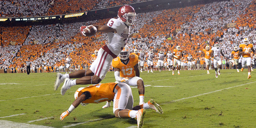 Sterling Shepard sparked OU's comeback win in OT at Tennessee with a pair of clutch TD grabs.