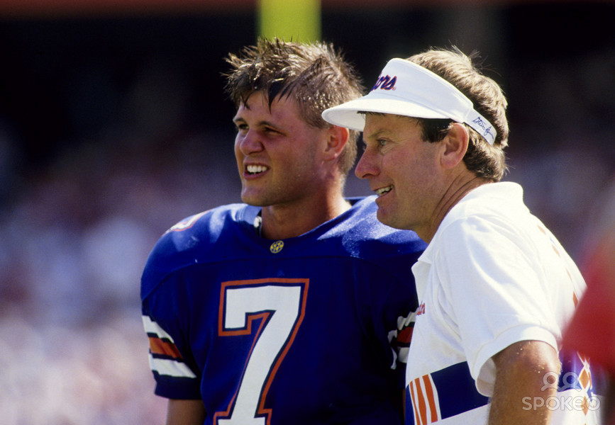 Steve Spurrier won the Heisman in 1966. Thirty years later, he led UF to its first national title and helped Danny Wuerffel win the Heisman.