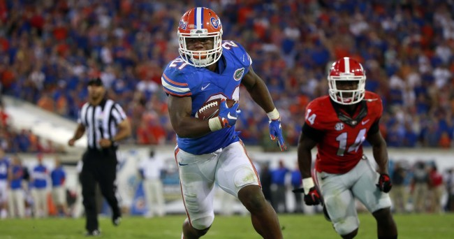 Kelvin Taylor and the Gators have the second-shortest odds (+130) to win the SEC.