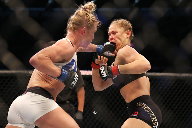 Holly Holm shocked the world with a second-round KO win over Ronda Rousey to win the women's 135-pound belt at UFC 193 in Melbourne, Australia.