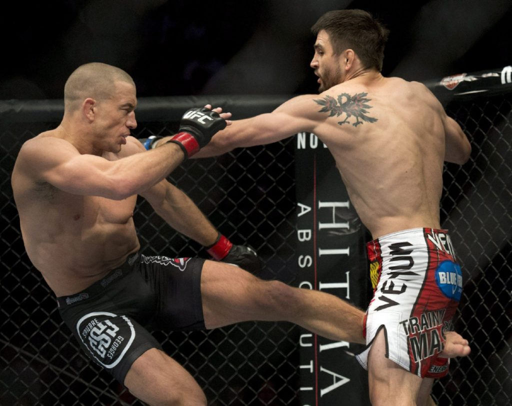 Georges St. Pierre is ready to make his return to the Octagon and Michael Bisping is a potential opponent.