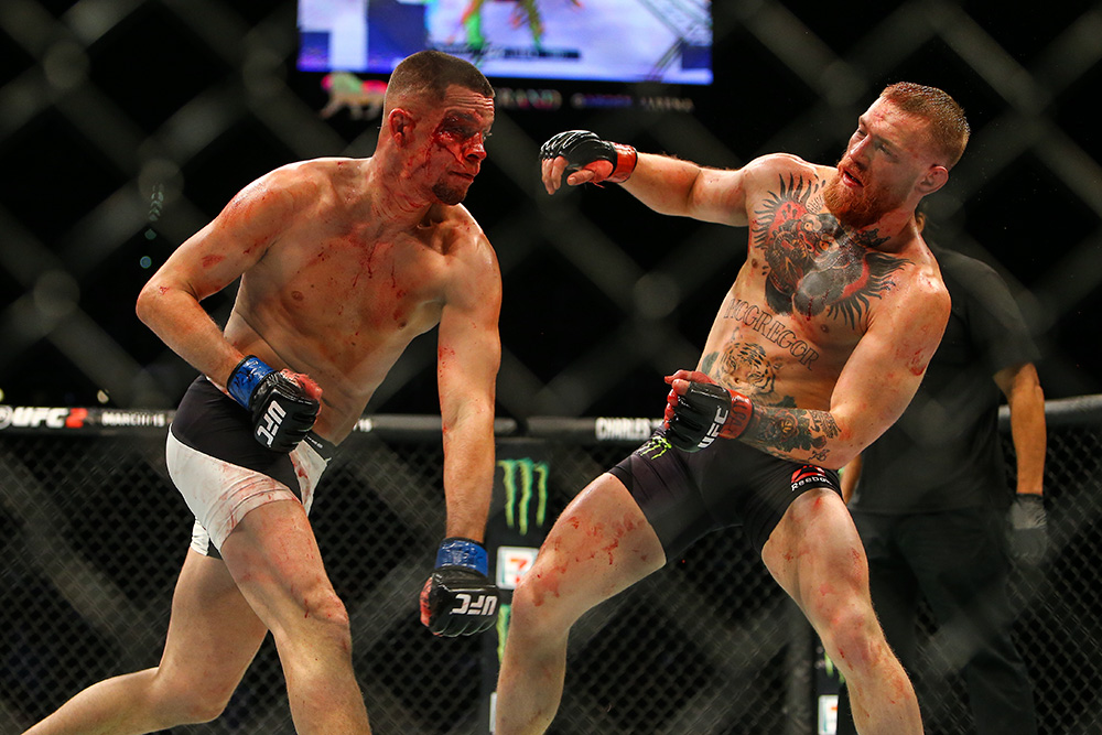 In the first meeting at UFC 196, Nate Diaz beat Conor McGregor by second-round submission as a +400 underdog.