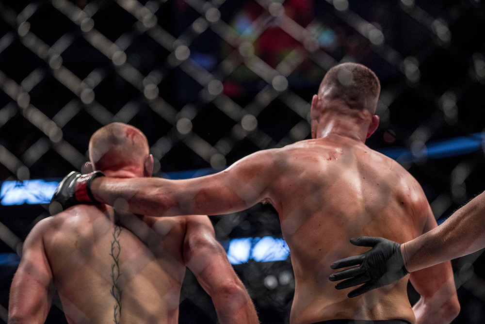 Both fighters showed good sportsmanship following their epic rematch at UFC 202.