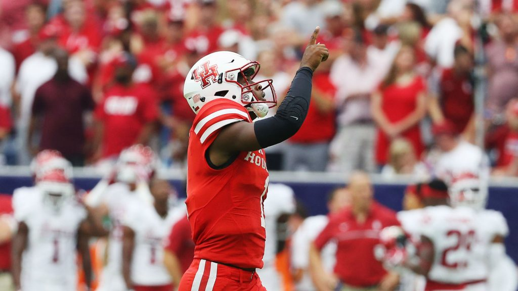 Greg Ward and the Houston Cougars have 17/1 odds to win the CFP. They'll host Louisville on Nov. 17.