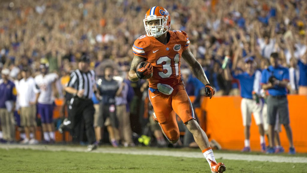 UF's Teez Tabor has four interceptions, including a pick-six vs. Missouri, in five games this season.