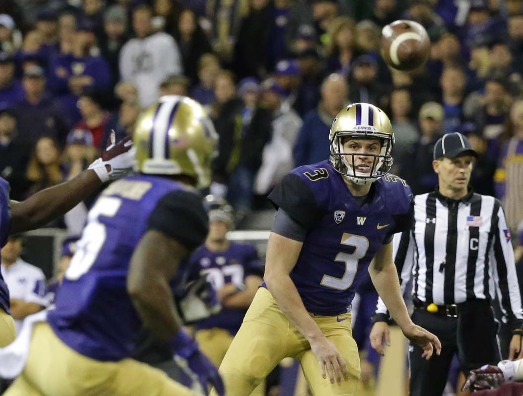 Washington QB Jake Browning has a remarkable 40/7 touchdown-to-interception ratio for the Huskies, who are 7.5-point favorites vs. Colorado in the Pac-12 Championship Game.